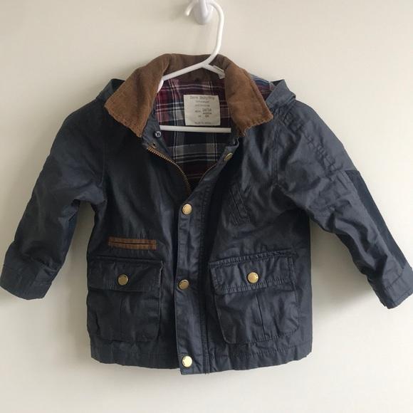 size 7 super cheap details for Zara Barbour like toddler baby coat